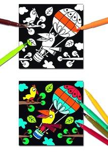 Djeco Zoizos fluwelen kleurplaten