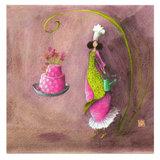 Kaart bloemen op de taart  (Gaëlla Boissonnard)_