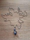 Geluks-Engel Dragon Lapis Lazuli ketting stainless steel
