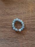 Dames ring met natuursteen Aquamarijn (Ø19)