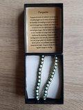 Dames wikkelarmband natuursteen Turquoise