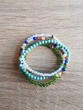 Set van vier damesarmbanden Turquoise 4mm