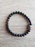 Dames armband Zwarte Obsidiaan met Boeddha kraal