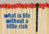 What is life without a little risk