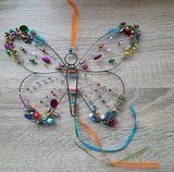 Vlinder met pailletten en kralen