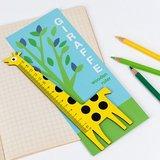Houten kinderliniaal giraffe