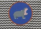 Kindertasje zwarte zigzag met nijlpaard_