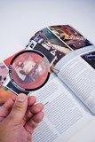 boekenlegger camera (vergrootglas)_