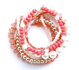 Armbanden zalm/roze_