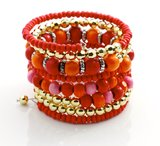 Armbanden rood/goud_
