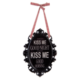 Tekstbord, always kiss me goodnight_