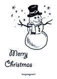 Merry Christmas (sneeuwpop)_