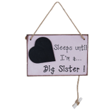 Houten bordje big sister