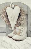 Bordje witte schoentjes en een hart