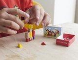 Houten blokjes puzzel