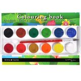 Kleurboek met 12 kleuren waterverf
