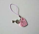 Sleutel, gelukshanger roze