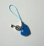 Sleutel, gelukshanger blauw