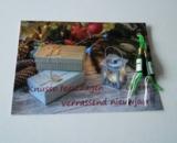 Kerst/Nieuwjaarskaart met champagneflesjes