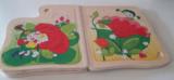 Puzzel boekje meisje met bloem