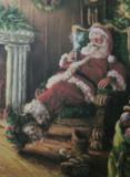 Kerstman in stoel