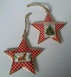 Metalen kerst hangers