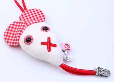 Speenkoord muis (rood)