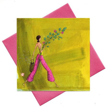 Kaart bos bloemen (Gaëlla Boissonnard)