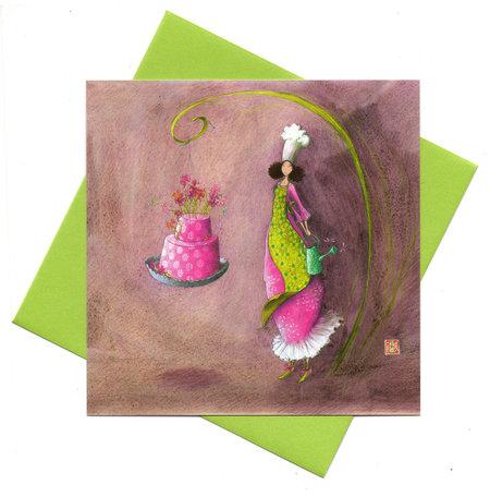 Kaart bloemen op de taart  (Gaëlla Boissonnard)