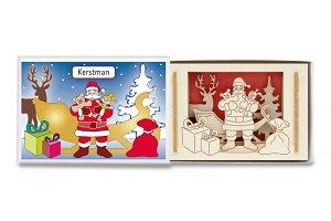 Kerstman, silhouet doosje