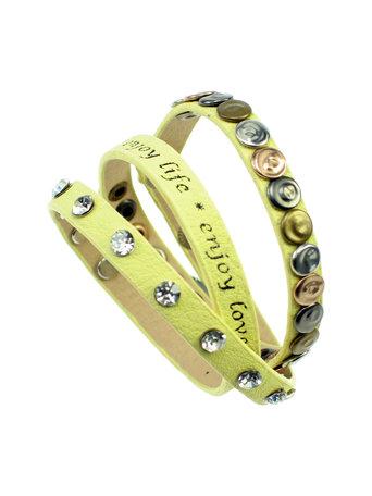 Enjoy Life armband zachtgeel