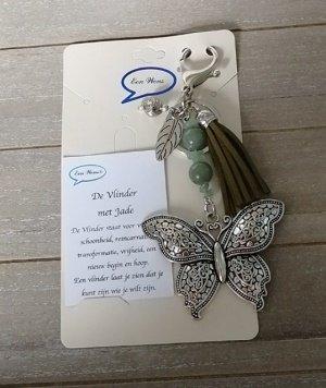 Vlinder met Jade (natuursteen)