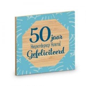 Onderzetter, 50 jaar Hieperdepiep Hoera! Gefeliciteerd