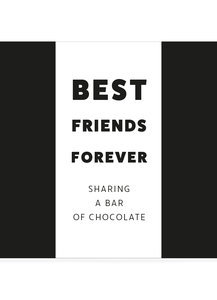 Best friends forever sharing a bar of chocolate