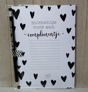 Notitieblok, Momentje voor een complimentje