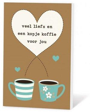 Veel liefs en een kopje koffie voor jou (Koffie in een kaartje)