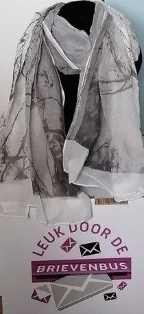 Sjaal met bomen/natuur