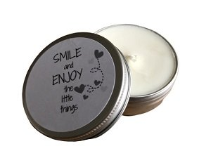 Kaars, Smile and enjoy the little things