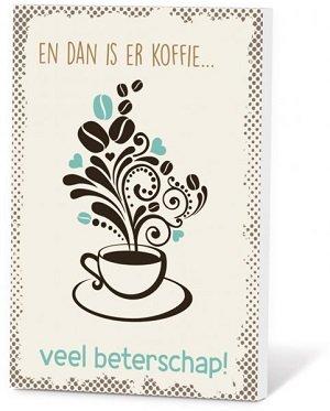 Veel beterschap! (Koffie in een kaartje)