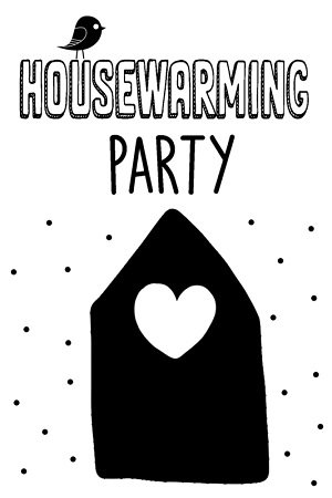 Uitnodigingen, housewarming party