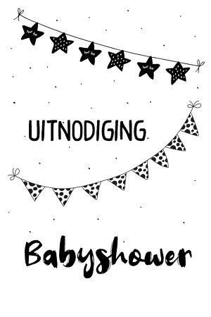 Uitnodigingen, babyshower