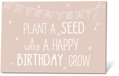 Plant a seed & watch a happy birthday grow (Zaadjes)