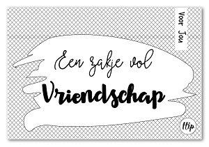 Een zakje vol vriendschap  (geurzakje)