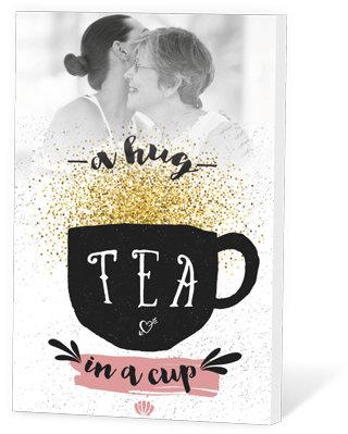 A hug in a cup (Thee in een kaartje)