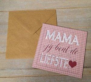 Mama, jij bent de liefste♥ (puzzelkaart)