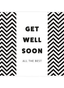 Get well soon, all the best (chocola)