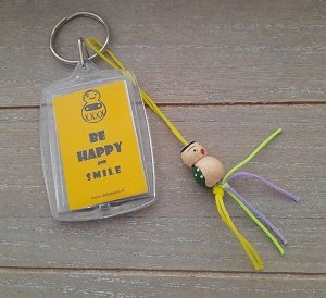 Sleutelhanger be happy and smile☺