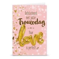 Giftcard met ballon (trouwdag)