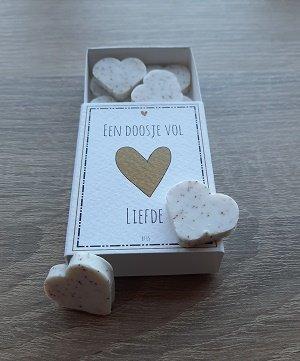 Zeepjes, een doosje vol liefde