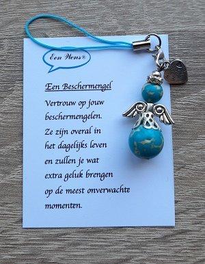 Beschermengel van natuursteen (Turquoise)